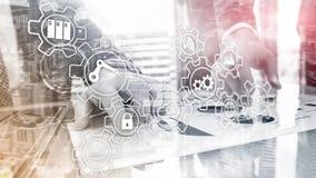 Technology innovation and process automation. Smart industry 4.0. Technology innovation and process automation. Smart industry 4.0 royalty free stock images