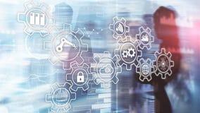 Technology innovation and process automation. Smart industry 4.0. Technology innovation and process automation. Smart industry 4.0 royalty free stock photography