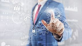 Technology innovation and process automation. Smart industry 4.0. Technology innovation and process automation. Smart industry 4.0 royalty free stock photos