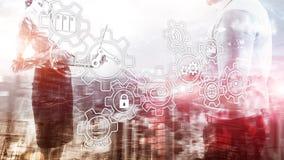 Technology innovation and process automation. Smart industry 4.0. Technology innovation and process automation. Smart industry 4 stock image