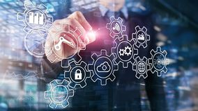 Technology innovation and process automation. Smart industry 4.0 stock image
