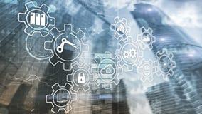 Technology innovation and process automation. Smart industry 4.0. Technology innovation and process automation. Smart industry 4 royalty free illustration