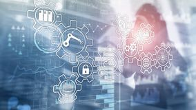 Technology innovation and process automation. Smart industry 4.0. Technology innovation and process automation. Smart industry stock images