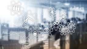 Technology innovation and process automation. Smart industry 4. 0 royalty free stock photo