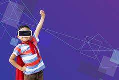 Technology Innovation Simulation Gadget Concept. Technology Innovation Simulation Gadget VR royalty free stock image