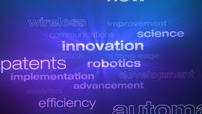 Technology and Innovation Words Loop