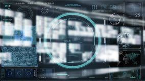 Technology Interaction. Digital background concept. Monitor stock footage