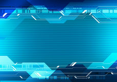 Technology interface banner concept witn place for text. Abstract digital image technology interface banner concept with place for text Royalty Free Stock Photography