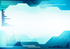 Technology interface banner concept witn place for text. Abstract digital image technology interface banner concept witn charts and diagrams on place for text Stock Photos