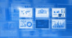Technology interface panels. Digital composite of technology interface panels Royalty Free Stock Image