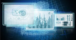 Technology interface panels. Digital composite of technology interface panels Royalty Free Stock Images