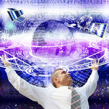 The technology Internet. The newest computer innovative technologies promote successful business Stock Photo
