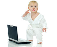 Technology and karate Royalty Free Stock Photo