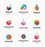 Technology, laboratory, creativity innovation and science abstract icons Royalty Free Stock Images