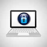 Technology laptop padlock protection safety Royalty Free Stock Photography