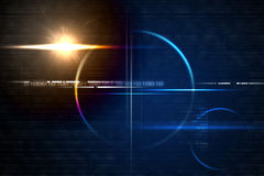 Technology lensflare backdrop Royalty Free Stock Images