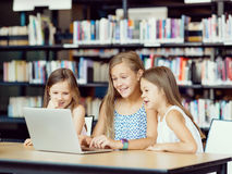 Technology in the library Stock Images