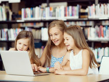 Technology in the library Royalty Free Stock Photo