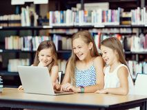 Technology in the library Stock Photography