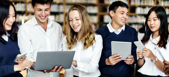 Technology Library Student Learning Concept Royalty Free Stock Images