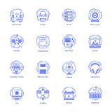 Technology Line Icons Pack vector illustration