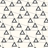 Technology lines seamless pattern. Irregular grid with triangles on lines,  background Royalty Free Stock Photo