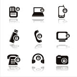 Technology with locks icons Royalty Free Stock Image