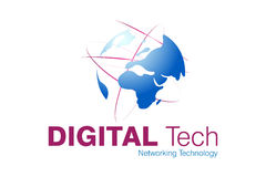 Technology Logo Design. Logo Design for Pc Technical and support, Technology field used royalty free illustration