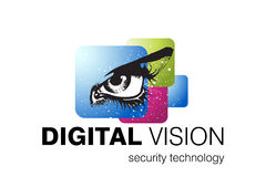 Technology Logo Design. Logo Design for Security systems and Vision correction, Business and Technology field used royalty free illustration