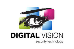 Technology Logo Design. Logo Design for Security systems and Vision correction, Business and Technology field used Royalty Free Stock Image