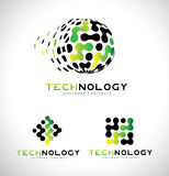 Technology Logo. Tech Logo Icon Vector Royalty Free Stock Images