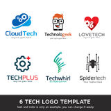 Technology Logo Template Design Stock Image