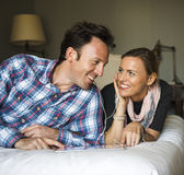 Technology Love Couple Happiness Concept Royalty Free Stock Photos