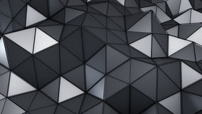 Technology low poly construction abstract 3D render Royalty Free Stock Photos