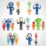 Technology man set. Technology head man,digital world and idea,business idea Royalty Free Stock Images