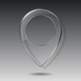 Technology map transparent glass pointer Stock Photos