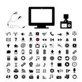 Technology and  media icon set Royalty Free Stock Image