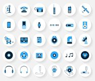 Technology and media vector icons Stock Photography