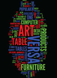 Technology Meets Art At Versa Products Text Background  Word Cloud Concept Stock Photography