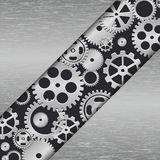 Technology metal background with gears. Royalty Free Stock Photography
