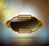 Technology metal banner Stock Photography