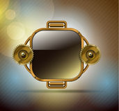 Technology metal banner Royalty Free Stock Image