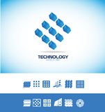 Technology microchip logo Royalty Free Stock Photo
