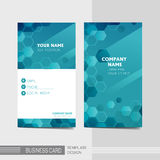 Technology modern business card template Royalty Free Stock Photos