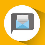Technology monitor icon email message isolated. Illustration eps 10 Stock Images