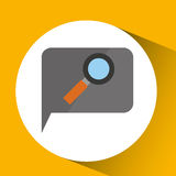 Technology monitor icon search magnifier isolated Royalty Free Stock Photography