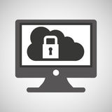 Technology monitor pc cloud security Stock Images