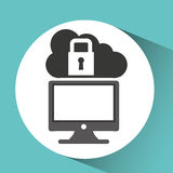 Technology monitor pc cloud security Royalty Free Stock Photography