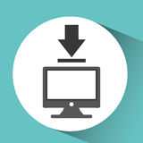 Technology monitor pc downloading Royalty Free Stock Photos