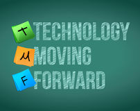 Technology moving forward Royalty Free Stock Photo
